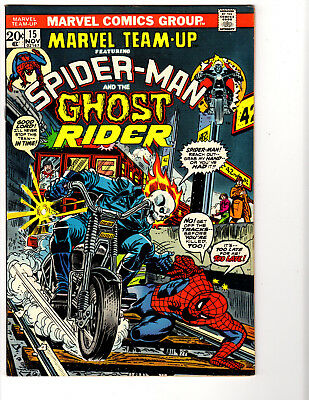 Marvel Team-Up #15 (11/73) F/VF (7.0) Ghost Rider! 1st Orb! Great Bronze Age!