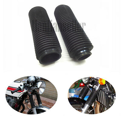 Motorcycle Motorcross Front Fork Rubber Boots 37MM Shock Absorber Dust Cover