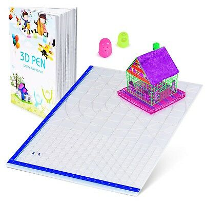 3D Pen Mat with Basic Template, with 3D Pen Books and 2 Silicone Finger Caps,...