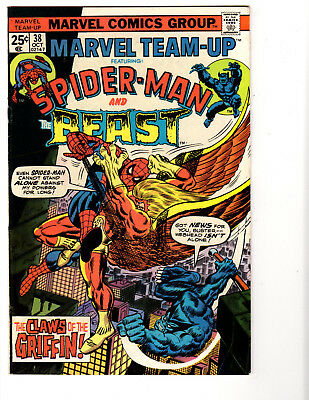 Marvel Team-Up #38 (10/75) FN+ (6.5) Beast! Griffin! Buscema! Great Bronze Age!