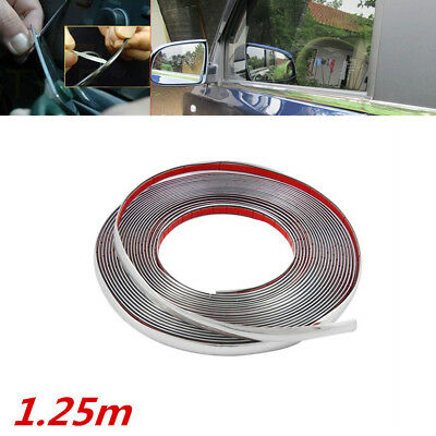 Light Grey 5mmx4M FRONT Bumper LIP use Self Adhesive T-top Molding Strip tape
