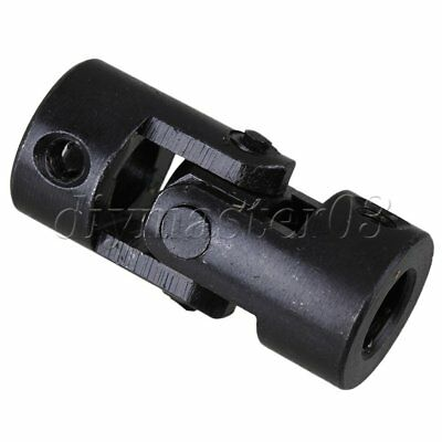 Black Inner Dia 10mm Length Steel Rotatable Motor Universal Joint Shaft Coupler