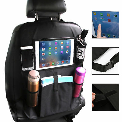 Car Back Seat Organiser Organizer ipad Tablet Holder Storage Kick Mats Tidy ON
