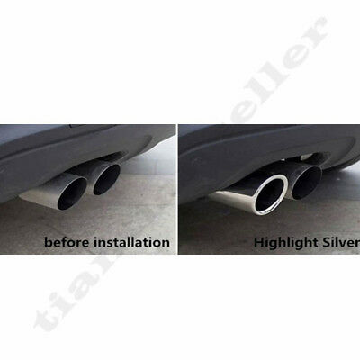 58mm-68mm Stainless Steel Car Tail Exhaust Tip Pipes For BMW E90 E92 325 328i