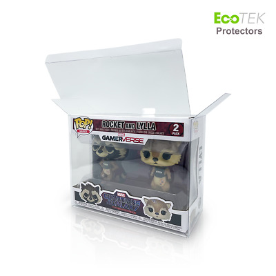 Lot 1 4 30 40 Collectible Funko Pop Protector Case for 2-Pack Vinyl Figures Lock