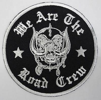 WE ARE THE ROAD CREW embroidered patch MotorHead