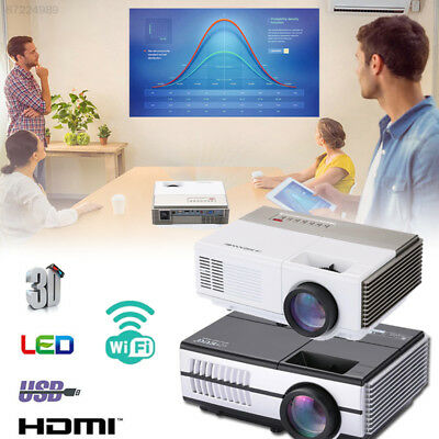 EDD5 LED Projector Remote Control Programs Audio Movies Video High Performance