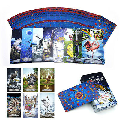 78Pcs/ Set Cards Animal Totem Tarot Deck Waite Rider Card Fortune Telling Oracle