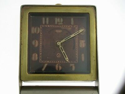 JAEGER LECOULTRE Art Deco 2 Day Alarm Desk Clock Swiss 1920