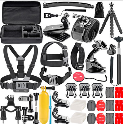 50 in1 Sports Action Camera Accessories Kit For GoPro Hero Video Mount Tripod UK