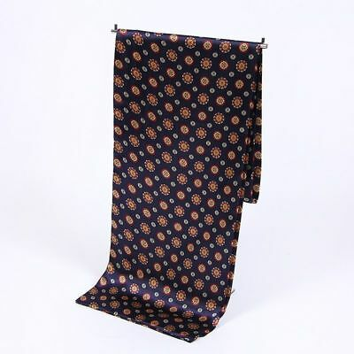 Cravat Silk Scarf for Men Soft Printed Satin Scarves Long Male Shawls And Wraps
