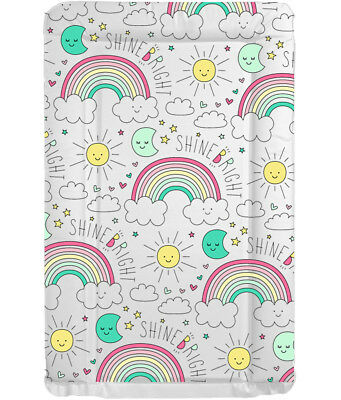 BABY CHANGE CHANGING MAT -Shine Bright Rainbow- Nursery Range - Baby Shower Gift