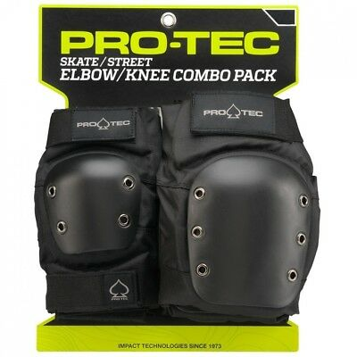 PRO-TEC Street Black X-Large Knee & Elbow Combo Skate Pads. Shipping is Free