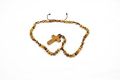 Necklace Wooden Rosary Beads