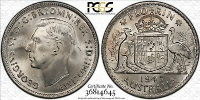 1947 Florin Stunning Coin PCGS Graded MS64