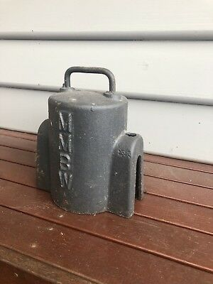 Vintage Old cast iron  3/4  MMBW water meter cover