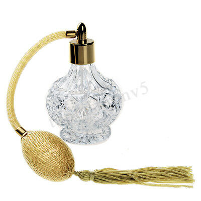 Vintage Clear Empty Refillable Glass Perfume Bottle Spray Atomizer Gift 80ml 1