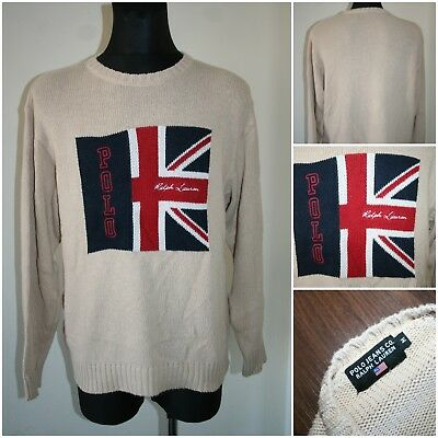 b2759710bae79 RALPH LAUREN POLO JEANS CO VINTAGE Men s MEDIUM Knit Jumper  Sweater   washed-out