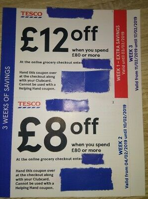 Tesco Vouchers Money Off Save Upto £28 - In Store Only.