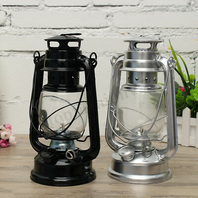 2PCS Garden Camp Retro Oil Lantern Kerosene Paraffin Hurricane Hanging Lamp 1