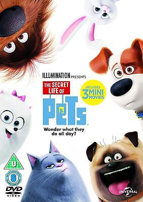 The Secret Life of Pets DVD + Blu Ray + 3 MINI MOVIES (ILLUMINATIONS)