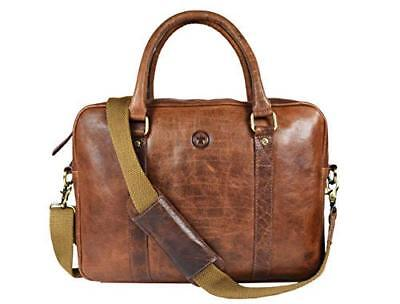 Leather Messenger Bag for Men and Women