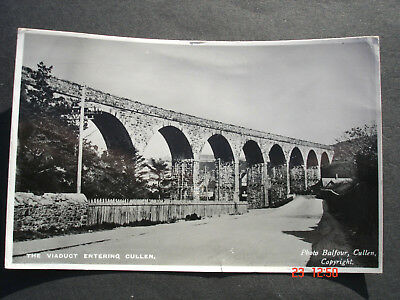 The Viaduct Entering  Cullen  Banffshire  Postcard -- Posted 1959