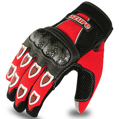 Motocross BMX Gloves Racing Motor Cycling, Offroad, Enduro, MTB, Red / Black, XL