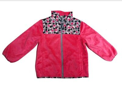 OshKosh B'Gosh Girls' Reversible Jacket, Pop Pink Polka Dot, Size 6