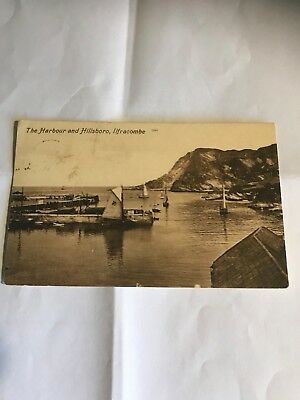 ILFRACOMBE. THE HARBOUR AND HILLSBORO EARLY 1900s POSTCARD