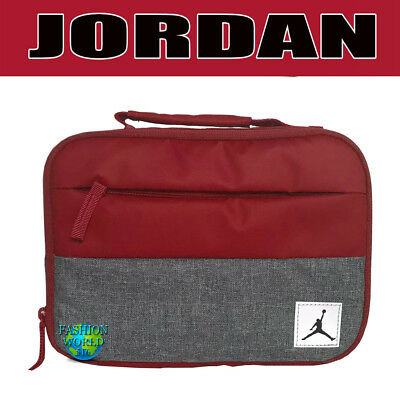 c029d92c6b62e9 Nike Air Jordan Pivot Insulated Lunch Box Tote 9A0085 Red grey