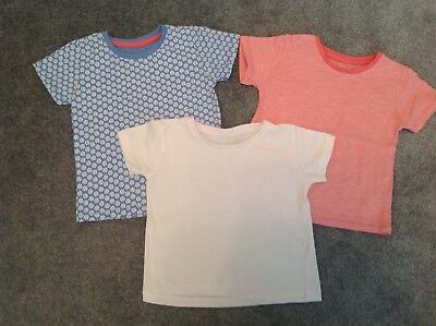 Baby Girls Set Pack Of 3 Short Sleeved Tshirts Tops Summer Holiday 18-24 Months