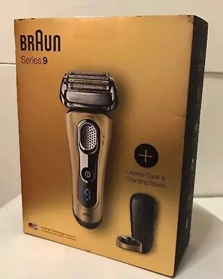 Braun Series 9 9299 Limited Edition Wet & Dry Shaver In Gold With Leather Case