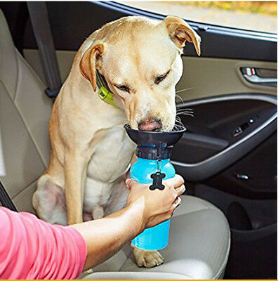 Mug Dog Cat Pet Water Bottle Drinking Cup Puppy Travel Outdoor Portable 500ml