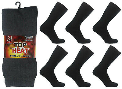 1-12 Pairs Girls Cotton Rich Black Warm Thermal Boot Welly Socks Lot UK Size 4-6