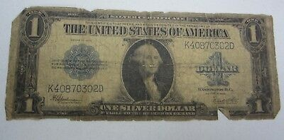 1923 $1 Silver Certificate Blue Seal Large Oversized One Dollar Bill