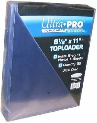 25 Ultra Pro 8 1/2 x 11 Toploaders  Photo Holders Storage Protection 8.5 X 11