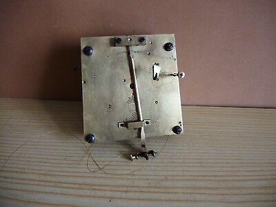 ANTIQUE VIENNA WEIGHT REGULATOR SCHUTZ HE Clock MOVEMENT PARTS Gustav Becker