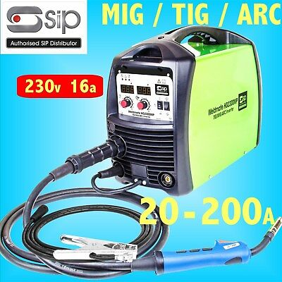 SIP 05773 HG2300MP TIG MIG ARC 200A Inverter Welder Generator Safe 230v 16A