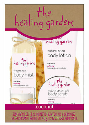 "The Healing Garden ""COCONUT""  5 pc Bath & Body Gift Set -MAKES A GREAT GIFT!"