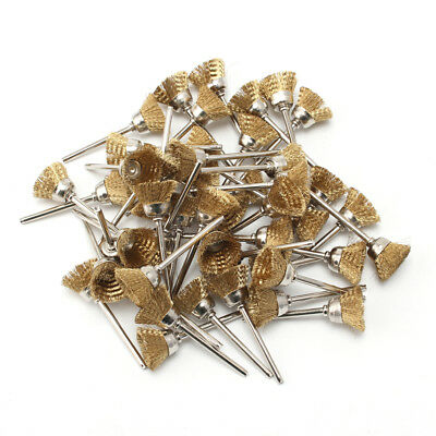 25mm Brass Wire Cup Brush Kit For Polishing Rotary rust Removal Tool 20Pcs