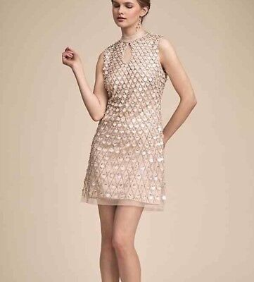 81cdd22d54 New SOLD OUT BHLDN Aidan Mattox Champagne BRILLIANCE Anthropologie Sz 10   395