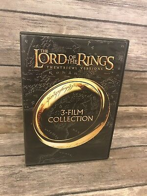 The Lord of the Rings: 3-Film Collection (DVD, 2014, 3-Disc Set) 1 2 3