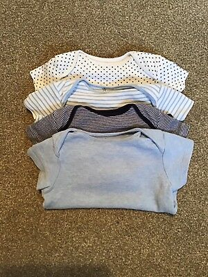 Next Baby Boys Short sleeve Bodysuits Blue Up to 3 months