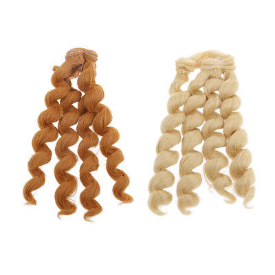 15x100cm DIY Curly Hair Wig Hairpiece for 1/3 1/4 1/6 BJD Dolls Accs