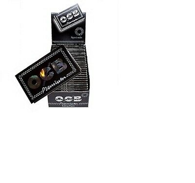 Box of 25 booklets OCB regular PREMIUM BLACK DOUBLE Rolling paper 2500 papers