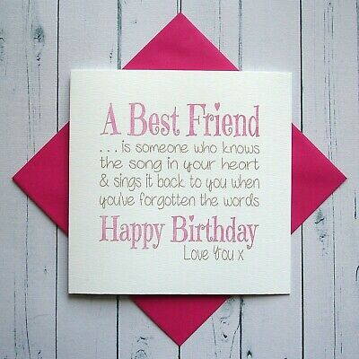 Birthday Cards For Best Friends Card Design Template
