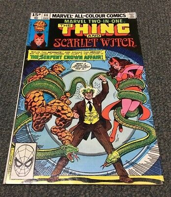 The Thing And Scarlet Witch (1980) MARVEL TWO IN ONE ISSUE #66