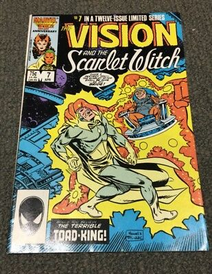"""Vision And The Scarlet Witch #7  (1986) """"The Terrible Toad-King"""""""