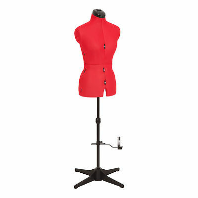 Sew Simple 8-Part Adjustable Dressmaking Dummy UK 10-16 Adjustoform 023816/Red